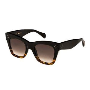 Céline Havana Rectangular Cat Eye Sunglasses
